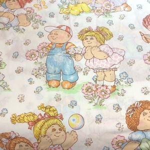 Vintage Bedding 1983 Cabbage Patch Kids Twin Flat Sheet